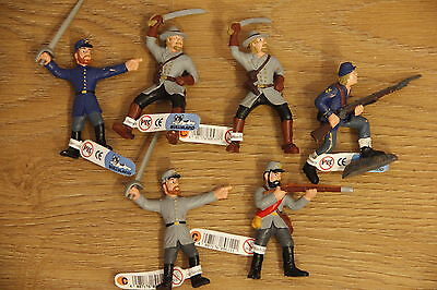 6x Civil war soldiers figures brand new with labels