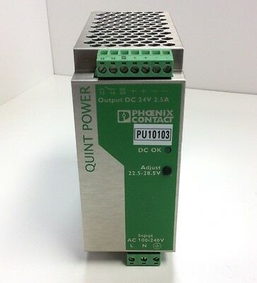 Phoenix Contact Quint-PS-100-240AC/24DC/2,5 Power Supply Single Phase 24VDC 2.5A