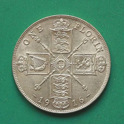 1916 George V Silver Florin/Two shillings SNo38656