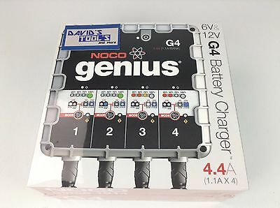 NEW Noco Genius G4 Noco 4.4 Amp 4-bank Smart Battery Charger and maintainer