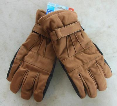 West Chester Ski Winter Brown Work Gloves Large Heavy Insulated Waterproof