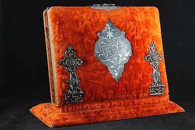 VICTORIAN ANTIQUE PHOTO ALBUM STAND TINTYPES, CDVs CABINET CARDS MEMORIAL CARDS