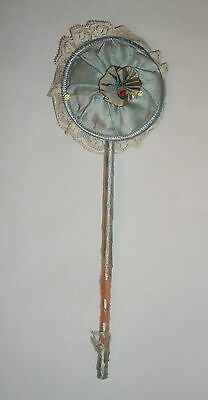 Vintage Ladies Powder Talcum Puff Wand Boudoir Item 1920s