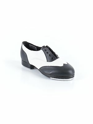 New Women Leos Adult Giordano Spectator Black White Tap Shoes LS3004L Size 5 M