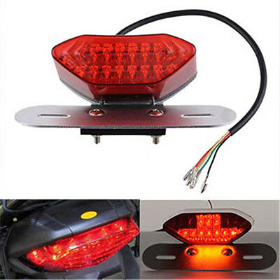 Hot New12V LED Motorcycle Turn Signal Brake License Plate Intergrated Tail Light