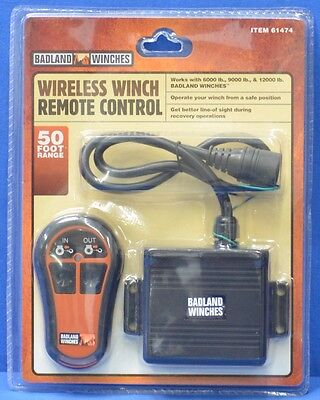 NEW Badland Winches Wireless Remote Control for 9000 & 12000 lbs Winches 61474