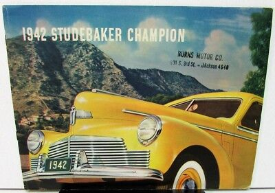 1942 Studebaker Champion Sedan & Coupe Color Sales Brochure Original