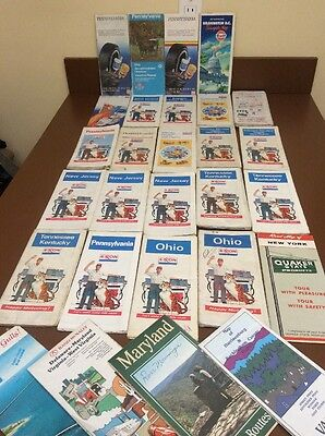 Vintage Collectible Road Maps LOT OF 29 ASSORTED Phillips 66 Texaco Exxon Amoco