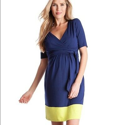 Women's Seraphine Colorblock Nursing Maternity Dress Sz Small / 4