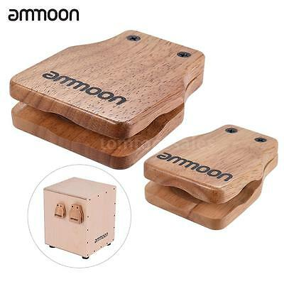 ammoon Large & Medium 2pcs Cajon Box Drum Companion Accessory Castanets J9X6