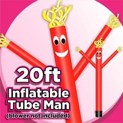 20ft Red Inflatable Wind Air Sky Dancer Dancing Sky Air Puppet (No Blower)