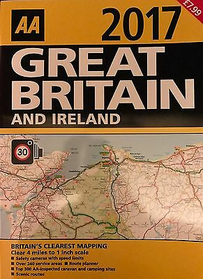 Aa Great Britain And Ireland Atlas/ Road Map 2017 Brand New Latest Edition