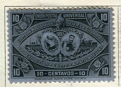 GUATEMALA;  1897 early classic issue Mint hinged 10c. value