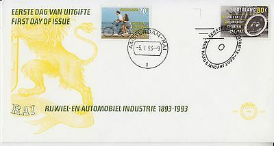 Bicycle and Automobile industry 1993 The Netherlands FDC Bikes Cars