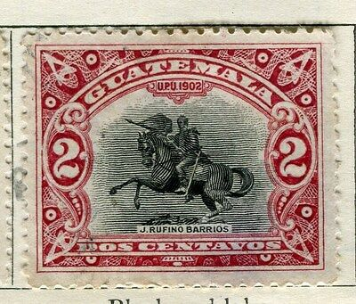 GUATEMALA;  1902 early pictorial issue Mint hinged 2c. value