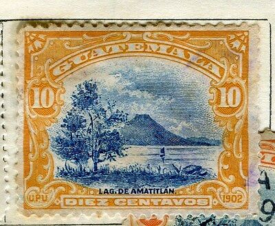 GUATEMALA;  1902 early pictorial issue used 10c. value