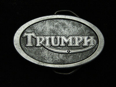 PL27170 *NOS* VINTAGE 1970s **TRIUMPH** MOTORCYCLE COMPANY PEWTER BELT BUCKLE