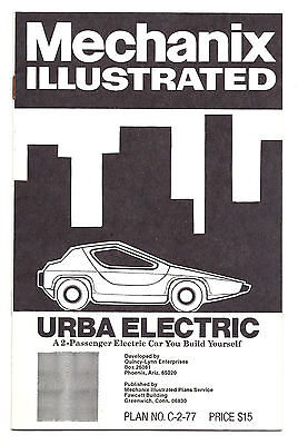 1977 Plans for Urba Electric 2-Passenger Car You Can Build Yourself