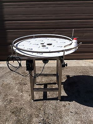 """Accumulation Rotary Turntable S/S 304 . 36"""" plate (NEW)"""