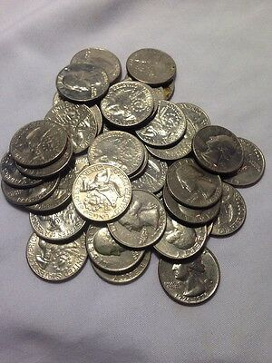 One Circulated Roll of 1976 Bicentennial Washington Quarters (40 Coins) $10 face
