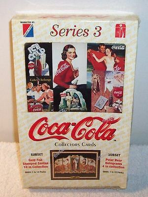 Coca Cola Series 3 Collector Trading Card Box Collect-A-Card - Sealed