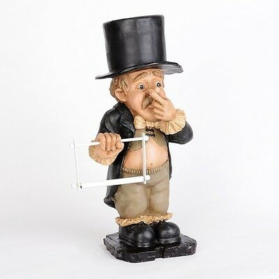 Toilet Paper Holder Funny Novelty Cute Silly Stinky Butler Bathroom Decor