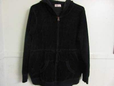 Old Navy Maternity Large Black Velour Hoodie with front pouch - Very Comfortable