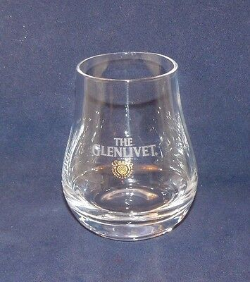 The Glenlivet Clear Tumbler Rock Old Fashioned Drinking Glass White Etch