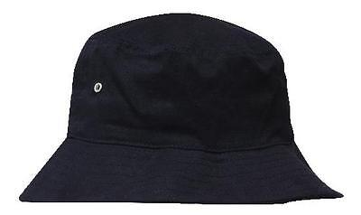 NEW BUCKET HAT Brushed Twill Black or Navy