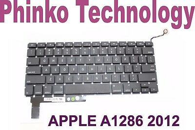 "Keyboard Apple MacBook Pro 15"" Unibody A1286, 2009, 2010, 2011 2012"