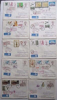 10 original 1985 Envelopes Covers Stamps Poland with all other postal marks