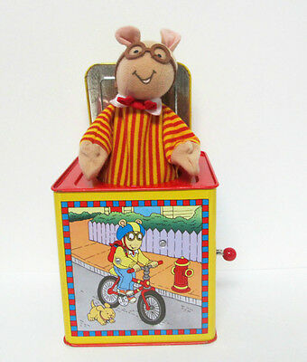 Arthur Marc Brown Jack in the Box Plush Tin Toy Schylling 1998