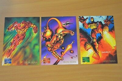 Marvel Masterpieces Trading Cards: Iron Man: 1995: Set of 3 (52, 53, 54)