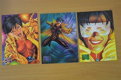 Marvel Masterpieces Trading Cards: Jubilee: 1995: Set of 3 (58, 59, 60)