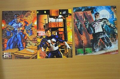 Marvel Masterpieces Trading Cards: Punisher: 1995: Set of 4 (79, 80, 81)