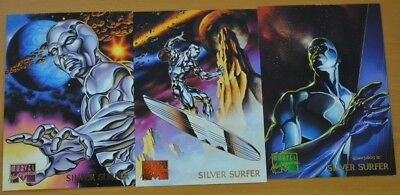 Marvel Masterpieces Trading Cards: Silver Surfer: 1995: Set of 3 (88, 89, 90)