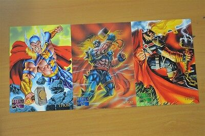 Marvel Masterpieces Trading Cards: Thor: 1995: Set of 3 (103, 104, 105)