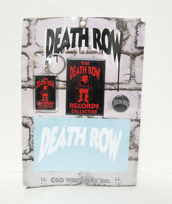 Death Row Records Rap Music Record Label Keychain Magnet Pin Set 2006 C & D RARE