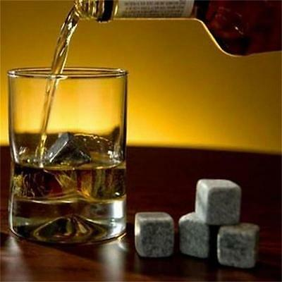 Cold Soapstone Wine Ice Cubes Chilling Rocks Cooler Whiskey Stones