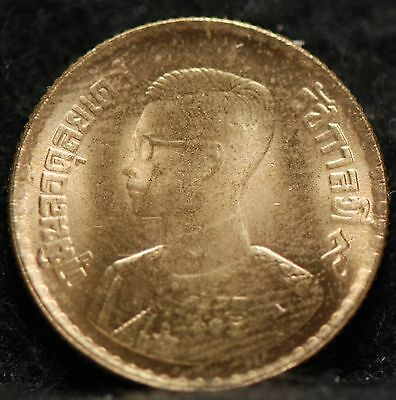 Thailand, (2500) (1957) 50 Satang, Y81, About Uncirculated+                  6gm