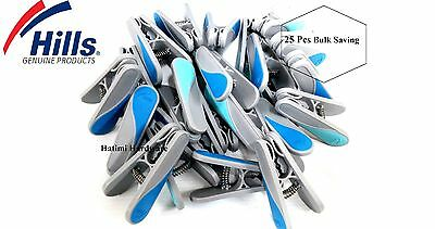 Hills Premium Clothes Soft Grip Genuine Pegs 25 Pack (Bulk Packing)Free Postage
