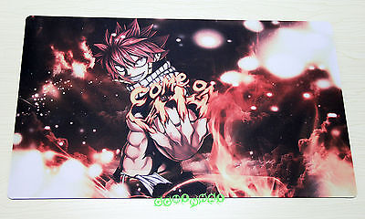 C704 FREE MAT BAG Fairy Tail Natsu Dragneel Trading Card Game Playmat Deck Mat