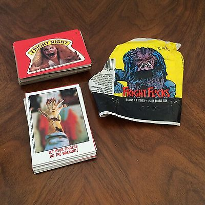 Topps Lot of Fright Flicks Cards Scary Horror Trading