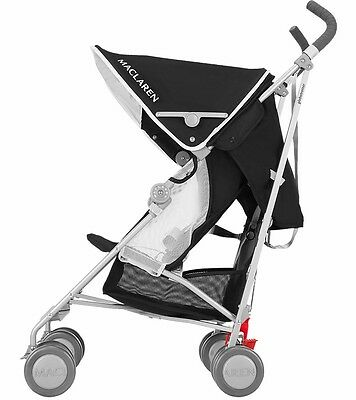 Maclaren Globetrotter Stroller / Pushchair / Buggy / Pram - Black & White - New