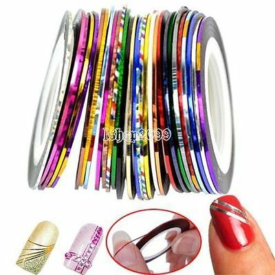 2 Rouleaux Striping OR et ARGENT decoration ongle Fil Bandes Nail Art Manucure