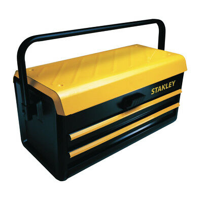 """Stanley 19"""" Metal Tool Box w/Two Auto-Slide Drawers STST19502 NEW"""
