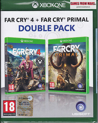 Far Cry 4 + Far Cry Primal Double Pack Xbox One - Nuovo Italiano