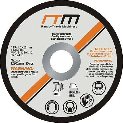"""Randy & Travis Machinery 125mm 5"""" Cutting Disc Wheel for Angle Grinder x100"""