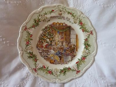 Royal Doulton Brambly Hedge Midwinters Eve Plate Rare