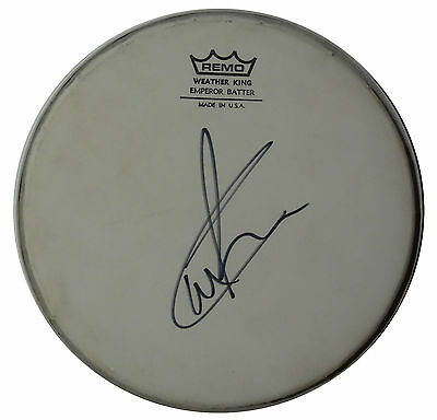 Signed Carl Palmer Autographed Remo Drumhead W.pic Emerson Lake & Palmer